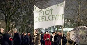 İsveç'te Nobel protesto edildi