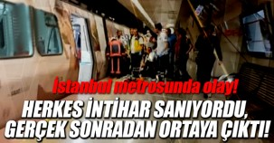 İstanbul'da metrosunda olay