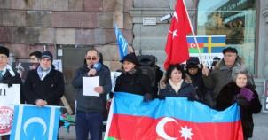 Hocalı katliamı İsveç Parlamentosu önünde protesto edildi