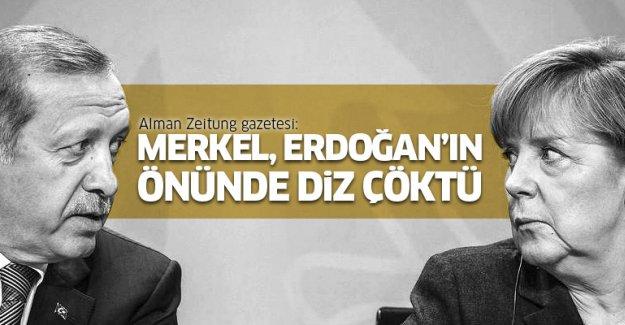Alman basını: Merkel, Erdoğan'ın önünde diz çöktü