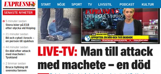 Almanya'da palalı saldırgan: 1 ölü, 2 yaralı