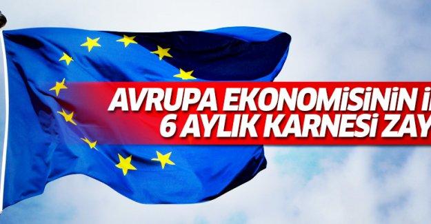 Avrupa ekonomisinin ilk 6 aylık karnesi zayıf