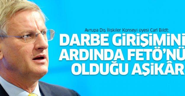Bildt: Darbe girişiminin arkasında FETÖ olduğu aşikar