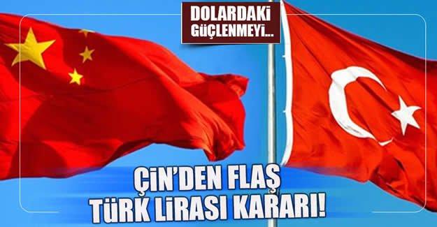 Çin, 2017 sepetine Türk Lirasını da ekledi