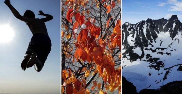 Ekim Ayında İsveç Üç Mevsimi Birden Yaşıyor