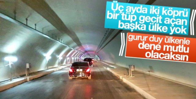 Erdoğan Avrasya Tüneli'nden geçti