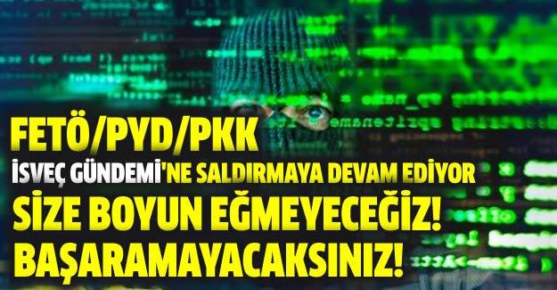 FETÖ/PYD/PKK siber teröristleri İsveç Gündemi'ne saldırıyor