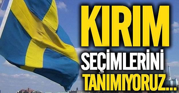 """İsveç: """"Kırım'daki seçimleri tanımıyoruz"""""""