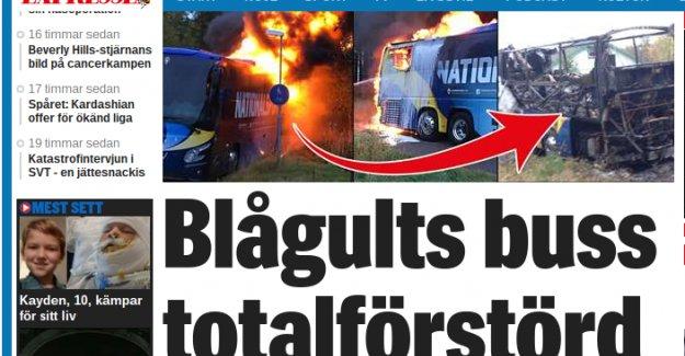 İsveç Milli Takım Otobüsü Yandı