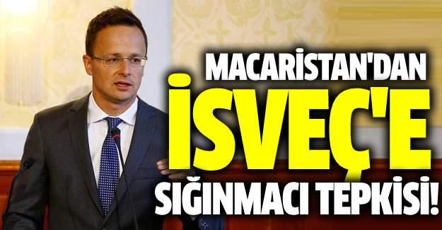 Macaristan'dan İsveç'e sığınmacı tepkisi
