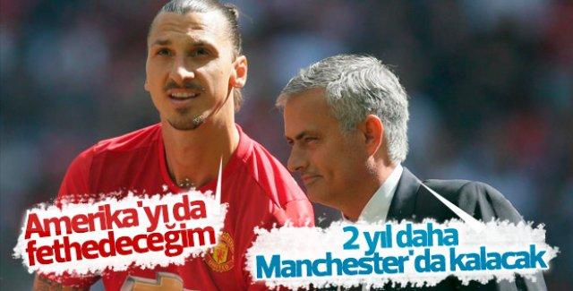 Mourinho Ibrahimovic'in Manchester'da kalacağını açıkladı