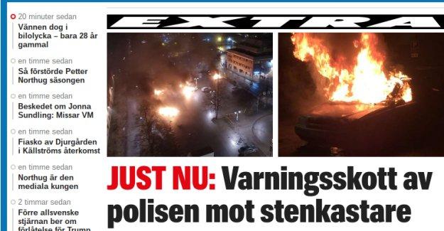 Rinkeby'de polise taşlı saldırı