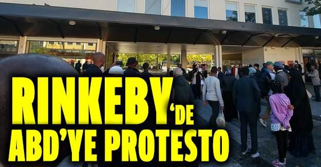 Rinkeby'deki Somalililer ABD'yi Protesto Etti