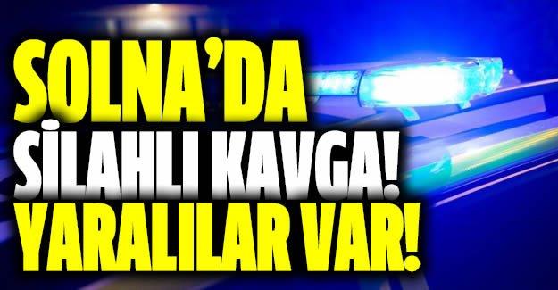 Solna'da restoran önünde silahlı kavga