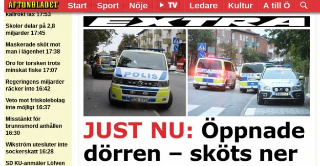Stockholm'de bir kişi evinde silahlı saldırıya uğradı