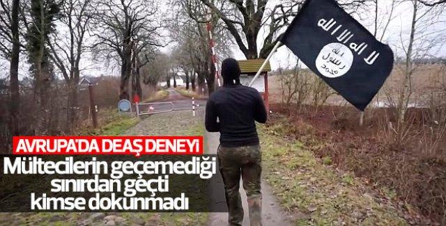 Terörist görünümüyle Danimarka'dan Almanya'ya geçti