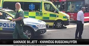 İsveç'te bilet soran otobüs şoförünü bıçakladı
