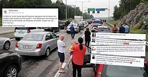 İsveç'te Trafik Kaosu