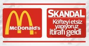 McDonald's et yerine hayvansal yağ kullanıyor