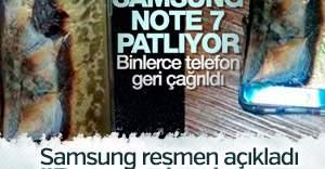 Samsung resmen ilan etti: Note 7'deki patlamalar bataryadan
