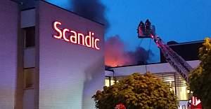 Scandic Otel'in yangın Çıktı
