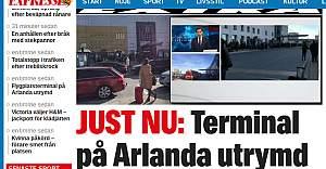 Stockholm Arlanda Havalimanı Boşaltıldı