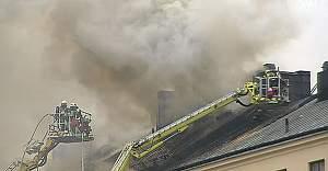 Stockholm'de Korkutan Yangın