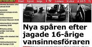 Stockholm'de polis 16 yaşındaki çılgın araba hırsızını arıyor...
