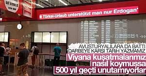 Viyana Havalimanı'nda skandal yazı