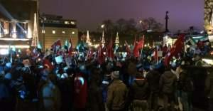 Göteborg'de Kayseri'deki terör ve Halep saldırıları protesto edildi
