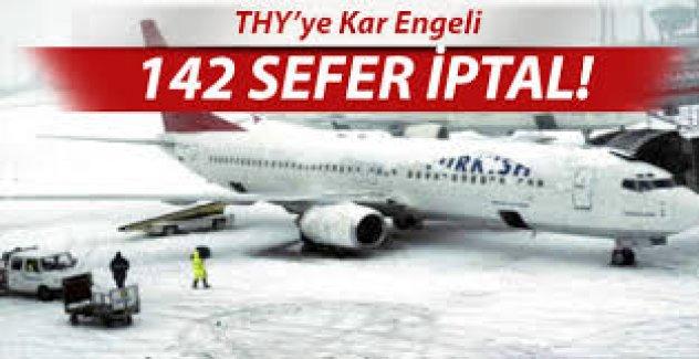 THY, İstanbul, Stockholm arası kar engeli