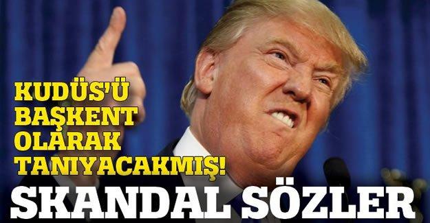 Trump'tan skandal Kudüs sözü!