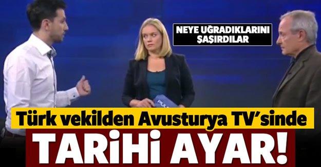 Türk vekilden tarihi ayar