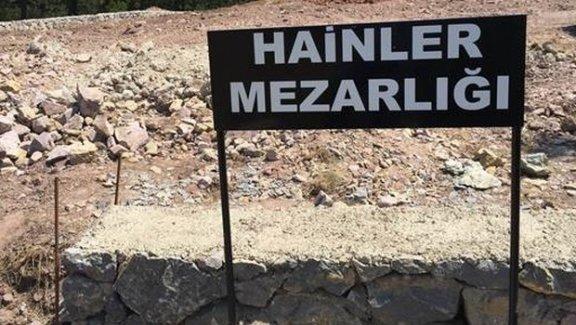 Türkiye'de Vatan Hainleri mezarlığı görüntülendi