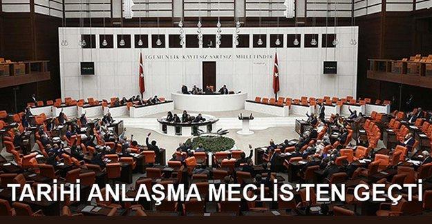 Türkiye-İsrail anlaşması TBMM Genel Kurulu'nda kabul edildi