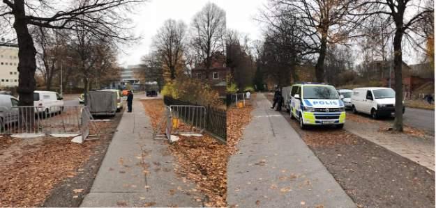 Türkiye'nin Stockholm Büyükelçiliği önünde yoğun güvenlik önelmeleri