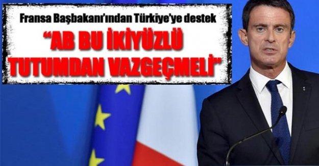 VALLS'TAN TÜRKİYE'YE DESTEK