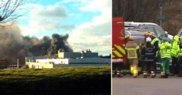 Volvo fabrikasında büyük yangın