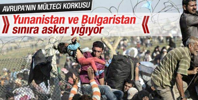 Yunanistan ve Bulgaristan'dan mülteci önlemi