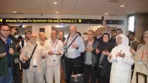 Hacı Adayları İsveç'ten Dualarla Uğurlandı