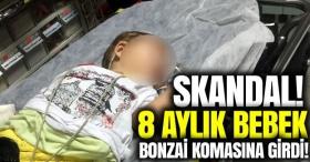 Skandal! 8 aylık bebek Bonzai komasına girdi!