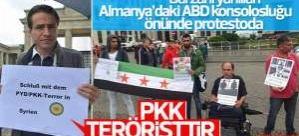Almanya'da PKK teröristtir protestosu
