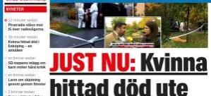 İsveç'te ''Erkek Şiddeti' bir kadın öldürüldü