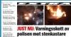 Rinkeby#039;de polise taşlı saldırı