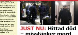 Stockholm'de bir kişi evinde ölü bulundu