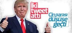 Trump'ın iki tweeti Çin parasına darbe vurdu