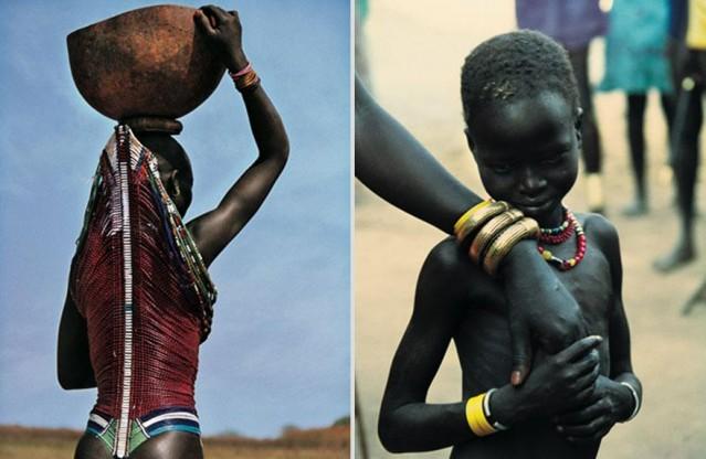 Güney Sudan'da yaşayan Dinka halkının fotoğrafları Carol Beckwith ve Angela Fisher adlı fotoğrafçılar tarafından çekilmiştir.