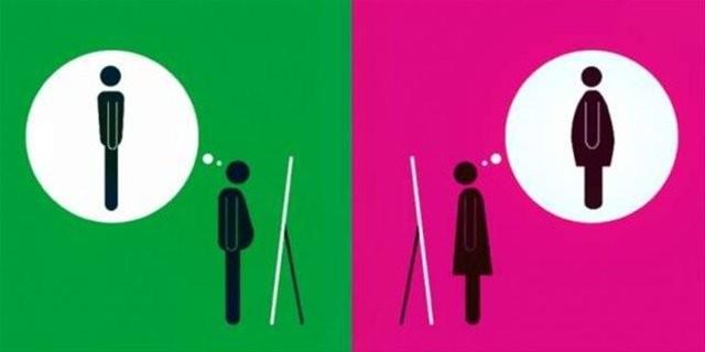 Konular aynı bakışlar farklı...  Erkekler Mars'tan kadınlar Venüs'ten denir ya... Bakın erkek ve kadın aynı konuda nasıl farklı düşünüyor. Mesela aynadaki yansımalarına baktıklarında... Erkek göbeğini görmez, kadın zayıf olsa da kendini kilolu bulur.