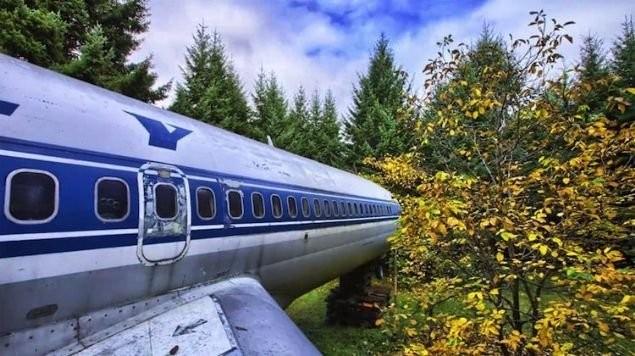 Bir mühendis olan Campbell, 1999'dan beri bu uçak evde yaşıyor.