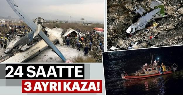 Dün akşam saatlerinde Türkiye'yi kahreden haber geldi. İş adamı Hüseyin Başaran'ın kızı Mina Başaran ve kız arkadaşları Dubai'de bekarlığa veda partisine gitmişlerdi. Dönüş yolunda İran'da düşen özel jette bulunan 11 kişide hayatını kaybetmişti. Aradan 24 saat geçmeden New York'ta bir helikopterin nehre düşmesi sonucu 5 kişi hayatını kaybetti. Bugün öğlen saatlerinde ise Nepal'de bir yolcu uçağı iniş sırasında düştü. Korkunç kazada şu ana kadar 38 kişinin öldüğü belirtildi.  Dün akşam saatlerinde Türkiye'yi kahreden haber geldi. İş adamı Hüseyin Başaran'ın kızı Mina Başaran ve kız arkadaşları Dubai'de bekarlığa veda partisine gitmişlerdi. Dönüş yolunda İran'da düşen özel jette bulunan 11 kişide hayatını kaybetmişti. Aradan 24 saat geçmeden New York'ta bir helikopterin nehre düşmesi sonucu 5 kişi hayatını kaybetti. Bugün öğlen saatlerinde ise Nepal'de bir yolcu uçağı iniş sırasında düştü. Korkunç kazada şu ana kadar 38 kişinin öldüğü belirtildi.